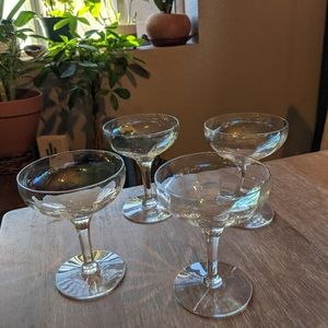 Chrome champagne glasses set of 4